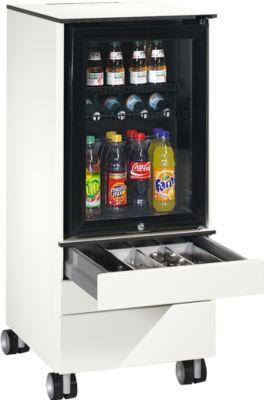 Caddy ASISTO C 3000, met koelkast, 3 laden, incl. binneninrichting voor bestek en servies