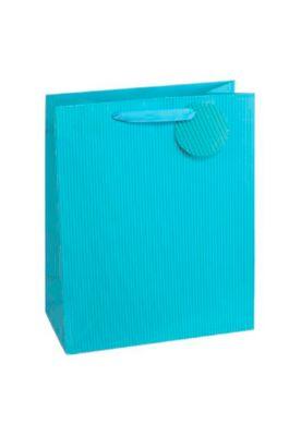 Cadeauzakje krijtstreep, XXL groot, 26 x 135 x 32 cm, scheurvast, set van 4, blauw