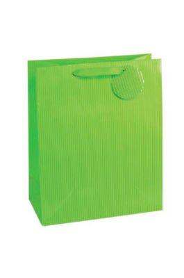 Cadeauzakje krijtstreep, XXL groot, 26 x 135 x 32 cm, scheurvast, set van 4 groen