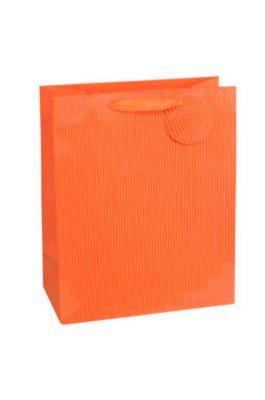 Cadeauzakje krijtstreep, XXL groot, 26 x 135 x 32 cm, scheurvast, setje van 4, oranje