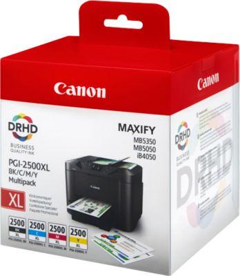 Canon inktpatronen PGI-2500XL BK/C/M/Y, 4  kleuren, 4 stuks