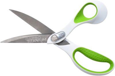 Carbo Titanium schaar, rvs, antikleef, voor rechtshandig gebruik, L 238 mm
