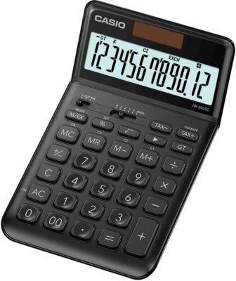 CASIO® Rekenmachine JW-200 SC, 12 cijfers met extra groot BIG LC-display, op zonne- of batterijvoeding, zwart