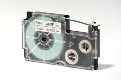 CASIO® Schriftband XR-6WE1, 6 mm breit, weiß