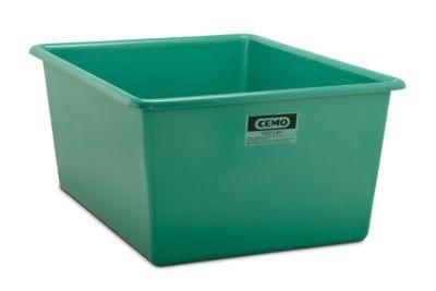 CEEMO rechthoekige standaard bak, groen, 1500 l