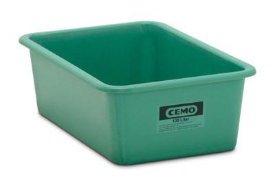 CEMO rechthoekige bakken, standaard, groen, 100 l