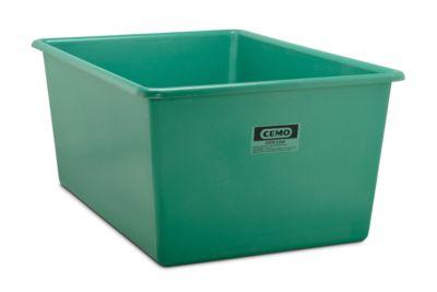 CEMO rechthoekige standaard bak, groen, 2200 l