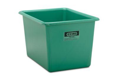 CEMO rechthoekige standaard bak, groen, 700 l