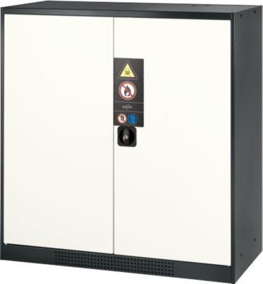 Chemicaliënkast, vl.deur, 2 legb., 1055x520x1105 mm, wit