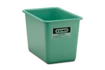 CHEMO rechthoekige standaard bak, groen, 200 l hoog