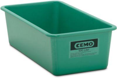 CHEMO rechthoekige standaard bak, groen, 500 l plat