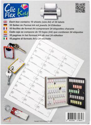 Clic Flexl Etiketten für Schlüsselanhänger