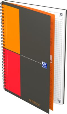 Collegeblock Oxford International Notebook, B5, kariert, 80 g/m², SCRIBZEE® kompatibel, 80 Blatt, 5 Stück