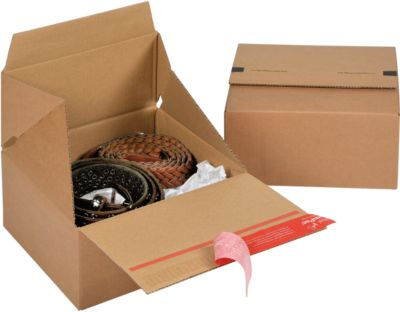 ColomPac Faltkartons Euroboxen, Größe S, 200 x 200 x 100 mm, 10 Stück