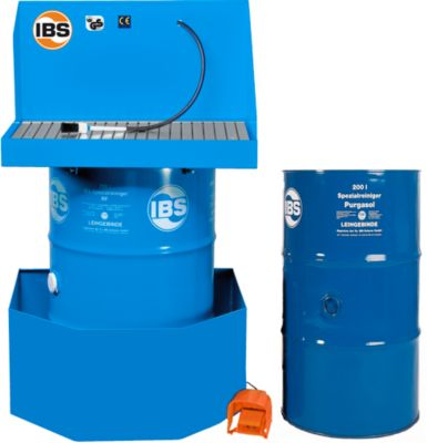 Combinatie onderdelenreiniger type K, reinigingsmiddel en opvangbak