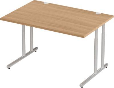 Combitec bur.tafel, h 680-820 x b 1200 mm, kersen Rom./witalu