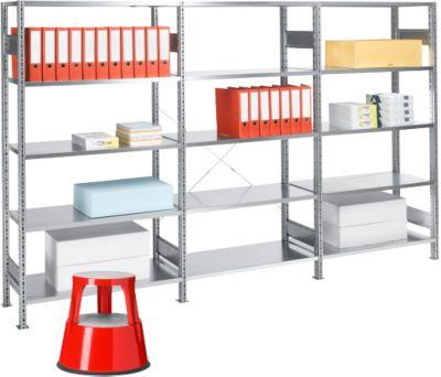 Complete aanbieding 1 basis stelling + 2 aanbouwstellingen, gratis rolkrukje