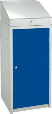 Complete aanbieding: kast en lessenaar (opzetstuk), lichtgrijs/blauw