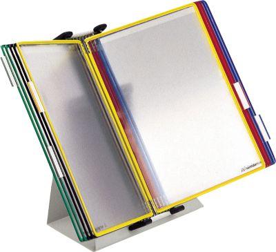 Complete aanbieding: tarifold tafelstandaard + 10 A4 gekleurd panelen