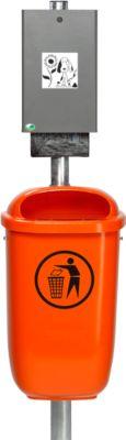 Complete set : Hondenpoep-zakdispenser met afvalbak 50 l, incl. paal en bevestigingsmateriaal