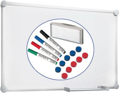 Complete set whiteboard 2000, aluzilver