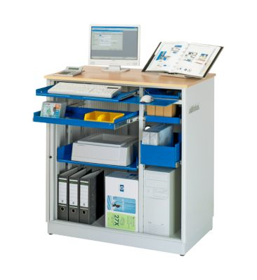 Computer-Station adlatus Typ 6001, B 1030 x T 660 x H 1100 mm, stationär