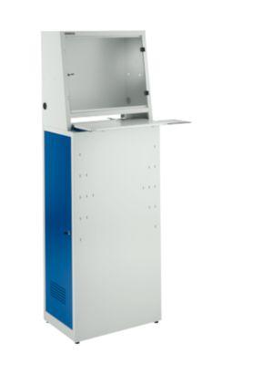 Computerkast, stalen, L 600 x D 400 x H 1700 mm