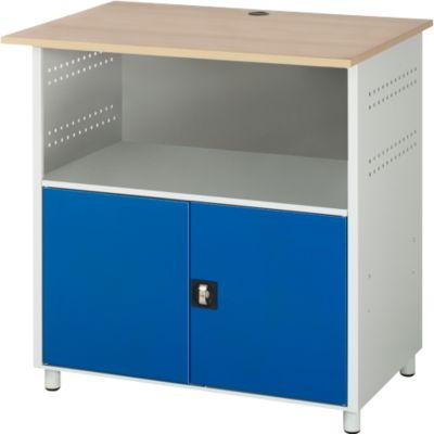 Computerstation type 6001, B 1100 x D 800 x H 1150 mm, niet verrijdbaar