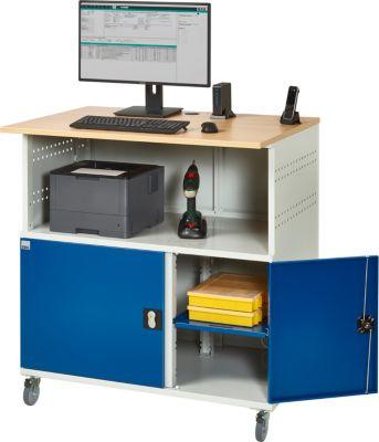 Computerstation type 6001, B 1100 x D 800 x H 1810 mm, verrijdbaar, B 1100 x D 800 x H 1810 mm, mobiel