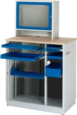 Computerstation type 6018, B 1030 x D 660 x D 1810 mm, stationair.