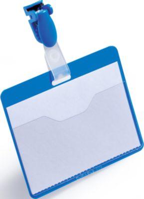 Congresspeld voor legitimatiebewijzen, blauw.