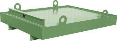Containerwanne CW 1, Stahl, für Absetzcontainer bis 10 m³, Neigungswinkel 5°, 2300 x 2030 x 560, RAL6011