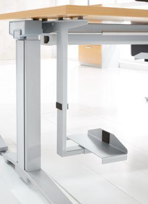 CPU-Halter für Schreibtisch e PLANOVA ERGOSTYLE, breiten- & höhenverstellb., Stahl pulverbeschichtet, weißalu