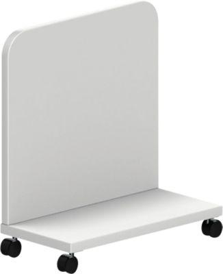 CPU-Trolley BEXXSTAR, mit Rollen, B 515 x T 275 x H 555 mm, weiß