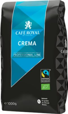 Crema-Bio-Bohnen Café Royal Professional Line, Fairtrade, Stärkegrad 4/5, 1 kg