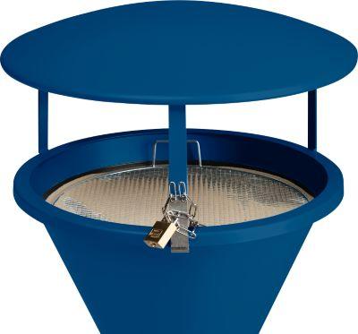 Dach für Standascher, enzianblau