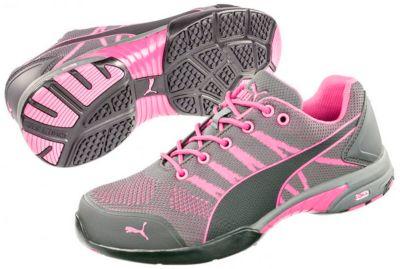 Damen-Sicherheitsschuh Puma Safety Celerity Knit Pink Wns Low, S1P, Stahlkappe, Größe 38