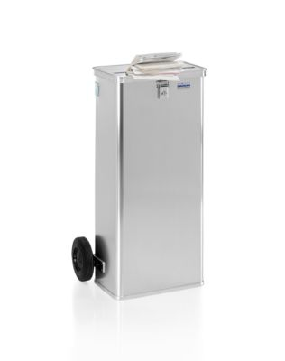 Data-afvalbak D1009/120 H, inhoud 120 l, met wielen, gleuf 420 x 27 mm