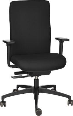 Dauphin Bürostuhl SHAPE ECONOMY 2 COMFORT, Synchronmechanik, mit Armlehnen, flexible Rückenlehne, schwarz