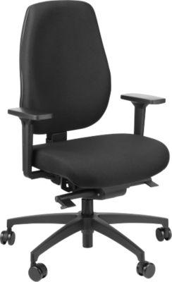 Dauphin Bürostuhl SHAPE SC ECONOMY, Synchronmechanik, ohne Armlehnen, Flachsitz mit Knierolle, Rollen für Teppich, blau