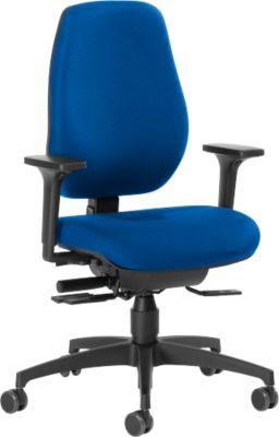 Dauphin bureaustoel Shape 28185, met armleuning, synchrone mechaniek, hoge rugleuning, blauw