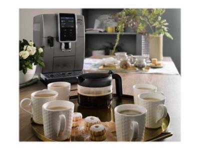 De'Longhi Dinamica Plus ECAM370.95.T - automatische Kaffeemaschine mit Cappuccinatore - 19 bar - Titan