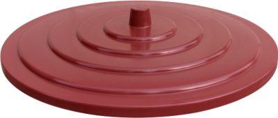 Deckel aus HDPE, 200 Liter, rot