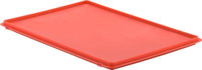 Deckel mit Haken EF-DH 64 für Kasten im EURO-Maß, rot