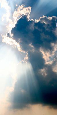 Deckensegel,Motiv Wolken,2000x1000