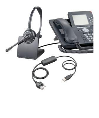 DECT-Headset Plantronics CS510, schnurlos/monaural, inkl. Telefonadapter APU-72, 120 m Reichweite