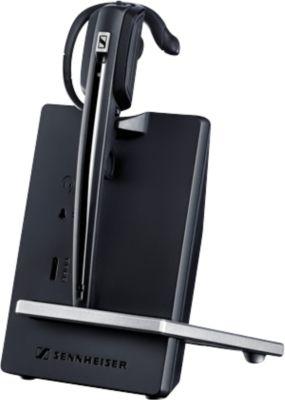 DECT-Headset Sennheiser D 10 USB ML, schnurlos/monaural, Skype-zertifiziert, 55 m Reichweite
