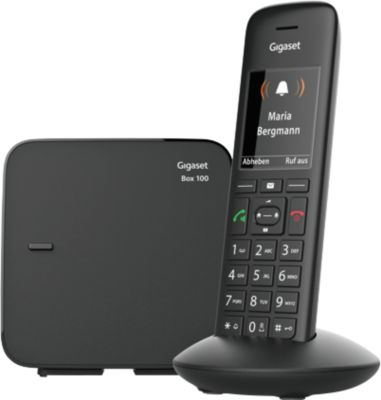 DECT Telefon Gigaset C570, schnurlos, TFT-Farbdisplay, für bis zu 6 Mobilteile, schwarz