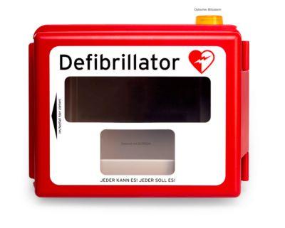 Defibrillator Hartschalen-Wandkasten, mit akustischem und optischem Alarm