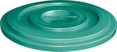 Deksel van HDPE, 35 liter, groen